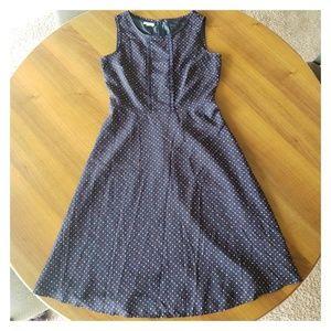 Talbots   Polka Dot Fit & Flare Dress